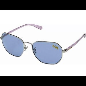 COACH HC7092 Square Metal 56mm Sunglasses